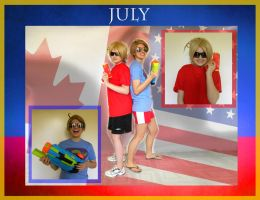 July - Hetalia Cosplay Calander Project by caught-the-doodlebug