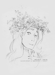 Flower Crown Sauron [sketch] by sycamoreleaf