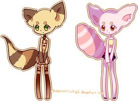 Fennecoon Adopts by Ambercatlucky2