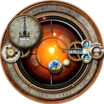 Steampunk Calendar Orrery Yahoo Widget Icon by yereverluvinuncleber