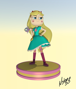 Star Butterfly Model by Nstone53