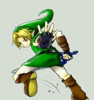 Link ocarina of time by HylianGuardians
