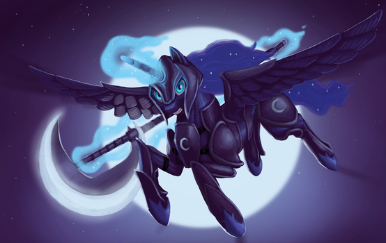 Warrior of the Moon by Mick-o-Maikeru
