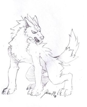 Sketch Request - Pokemon Werewolf by Jianre-M