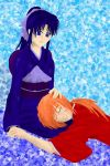 Kenshin and Kaoru Resting Colored by QueenEmilytheDlgnt