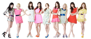 SNSD Lotte PNG by Jover-Design