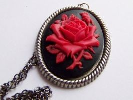 Red Rose Necklace by ms-pen