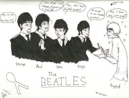 THE BEATLES + Hetalia by RedMoonDragon