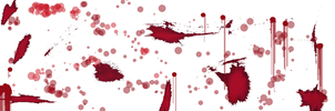 Blood splatters on the wall by RedRoseOnTheCoffin