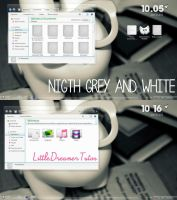 Night Grey and White by LittleDreamerTutos by LittleDreamerCreates
