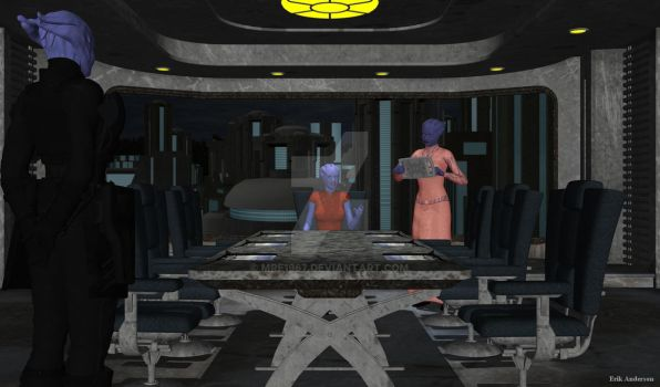 Asari:  The Meeting by MrE1967