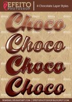 4 Free Chocolate Layer Styles by Romenig