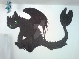 Toothless Paint On The Wall by TheBandicoot