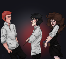 The Golden Trio by Mystery-Hyacinth