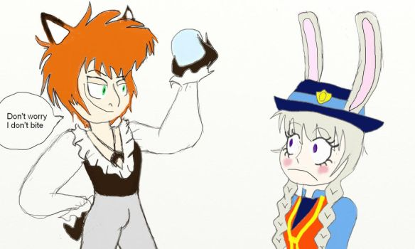 Judy And Nick labyrinth au by Comicgirl20