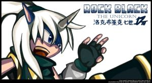 Rock Black The Unicorn by darkspeeds