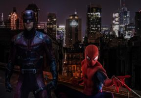 Spider-Man and Daredevil  by SavageComics