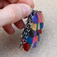 Multicolored Scale Pendant side view by DracoLoricatus