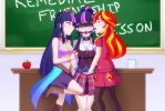 Remedial Friendship Lesson (Commission) by JonFawkes