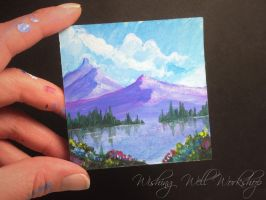 Miniature Painting-Wishing Well Workshop by missfinearts