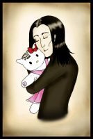 He loved his Hello Kitty by SamettiEnkeli