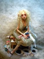 Harlequin romance ball jointed doll B by cdlitestudio