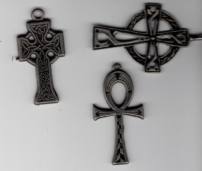 Pewter Celtic Crosses by 2InkyDolls-Stock