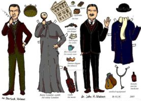 Sherlock Holmes paper doll by rum-inspector