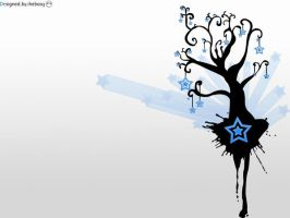 Blue stars tree by iheb003