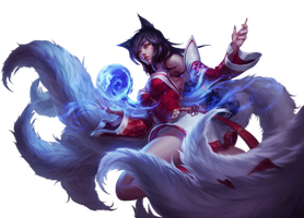 League of Legends Render: Ahri by Singularity01