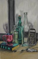 Bottles Still Life by xitsveronikiox