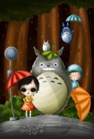 zepol Fan Art Totoro by Zepollita