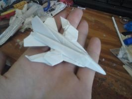 The 'Switchblade' Paper jet (wings swept back) by Rooivalk1