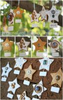 .Holiday Star Ornaments. by Lii-chan
