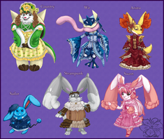Lolita Pokemon theme set 1 by tigersylveon