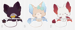 OPEN Chibi Bat Adoptables by LinaLeeL
