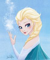 Elsa - Frozen Fan Art by nary-san