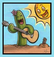 The Guitar Playing Cactus by COOKEcakes