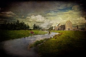 The abbey at the river by Flash-and-Flair