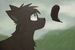 a crow's feather by GalaxyWhiskers