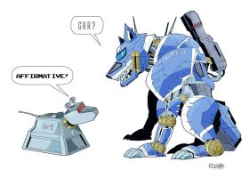 K-9 and GR-150 Colour by SteelhavenStudio