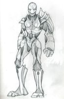 WarForged Sketch by MoonSparrow