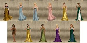 Disney Princesses - Roman Lady by IndyGirl89