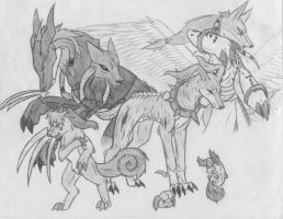 Dobermon's evolutions by Iron-Zing
