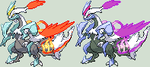 White Kyurem Charged Sprite by KingOfThe-X-Roads