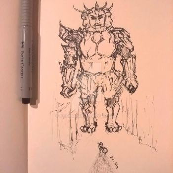 Inktober 2016 Day 21 . Big by Phonor