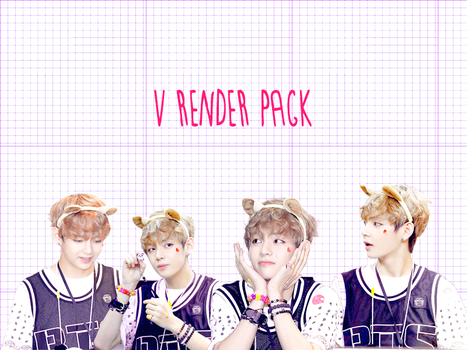 Pack PNG #1 V (Bangtan Boys) by XieraaaPark