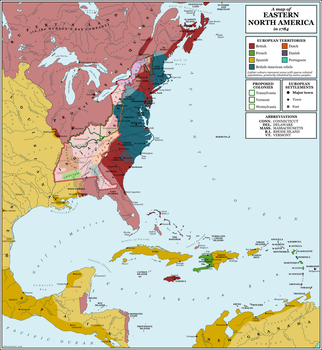 North America, 1784 by rubberduck3y6