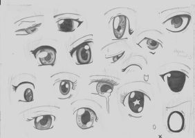 manga eyes. by xkaroufunart
