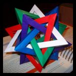Five Intersecting Tetrahedra by NegaZero